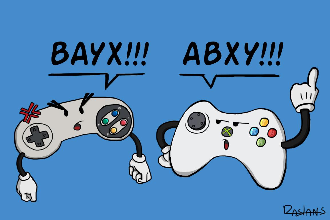 Pourquoi les boutons de nos manettes s'appellent ABXY ?